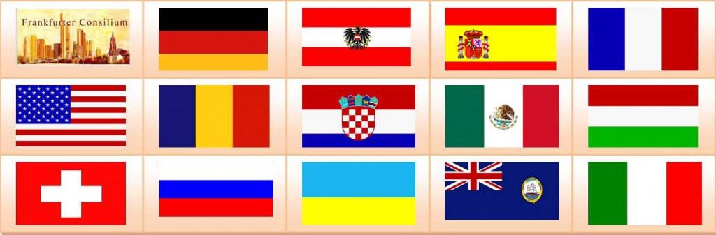 Mit internationaler Präsenz im Frankfurter Consilium - Ländervertretungen der bisherigen Sprecher im Frankfurter Consilium - Curriculum International