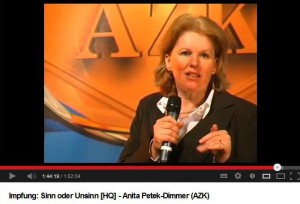 Anita Petek, Impfen Sinn oder Unsinn