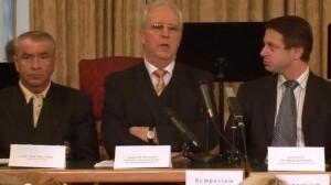 Pressekonferenz Senator H.C. Dr. Norbert Rozsenich, Sektionsleiter des österreichischen Wissen-schaftsministerium i. R.