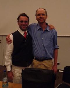 Der Umweltmediziner und ALS Therapeut Dr. med. Joachim Mutter und Ralf Kollinger Kollinger im Frankfurter Consilium
