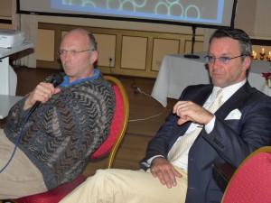 Dr. med. Martin Stöppler im medizinisch, wissensschaftlichen Beirat der C3M mit Ralf Kollinger. Beide stellen sich der Diskussion im Frankfurter Consilium zu zytostatischer und zur Immuntherapie. Das biologisch immunologische Feld einer geeigneten Tumor-Therapie!