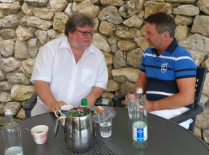 Medizinischer Frühschoppen - Samstag-Morgen den 19.08.2015  Privat bei Alfons Meyer