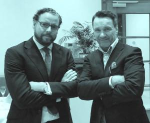 v.l. Rechtsanwalt für Medizin- und Arzneimittelrecht Dr. jur. Frank Breitkreutz und Ralf Kollinger