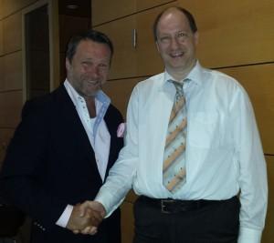 Prof. Dr. Burkhard Poeggeler (Endobolomics) und Ralf Kollinger (Frankfurter Consilium) auf gemeinsamen Wegen!