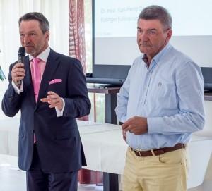 Ralf Kollinger und Dr.med.Karl-Heinz Deuser diskutieren im Frankfurter Consilium