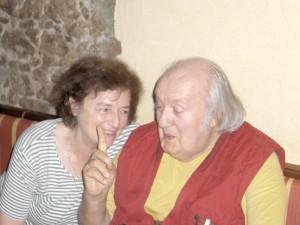 v.l. Das Frankfurter Consilium - Dr. Ingrid Arnold und Dr. Gerhard Ohlenschläger mit seinem legendären Fingerzeig -